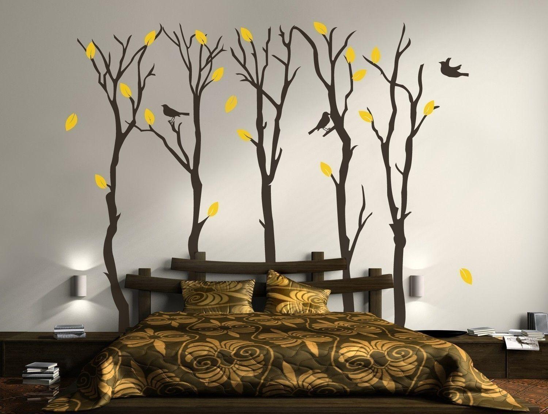 Рисунки на стенах в спальне своими руками фото